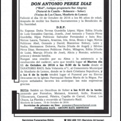 Don Antonio Perez Díaz
