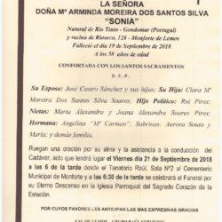 DOÑA MARIA ARMINDA MOREIRA DOS SANTOS SILVA