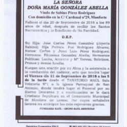 DOÑA MARIA GONZALEZ ABELLA
