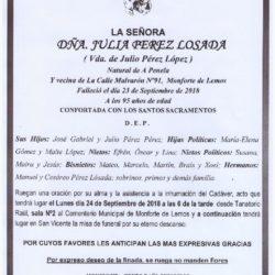 DOÑA JULIA PEREZ LOSADA