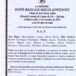DOÑA BASILISA MACIA GONZALEZ