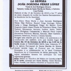 DOÑA DORINDA PEREZ LOPEZ