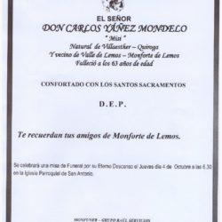 DON CARLOS YÁÑEZ MONDELO