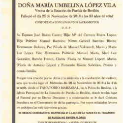 DOÑA MARIA UMBELINA LOPEZ VILA