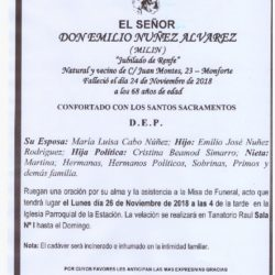 DON EMILIO NUÑEZ ALVAREZ