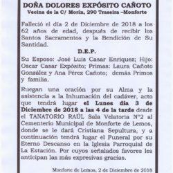 DOÑA DOLORES EXPOSITO CAÑOTO