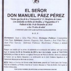 DON MANUEL PAEZ PEREZ