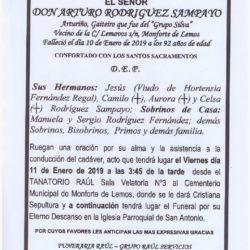 DON ARTURO RODRIGUEZ SAMPAYO