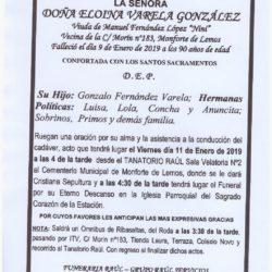 DOÑA ELOINA GONZALEZ VARELA