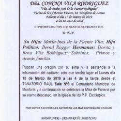 DOÑA CONCHA VILA RODRIGUEZ