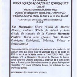 DOÑA MARIA RODRIGUEZ RODRIGUEZ
