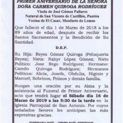CARMEN QUIROGA RODRIGUEZ