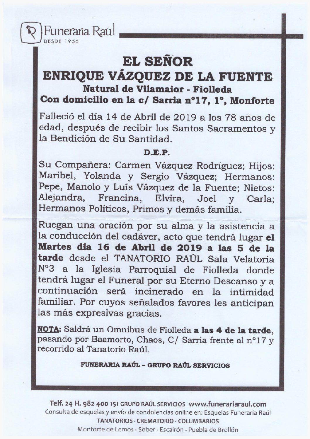 DON ENRIQUE VAZQUEZ DE LA FUENTE