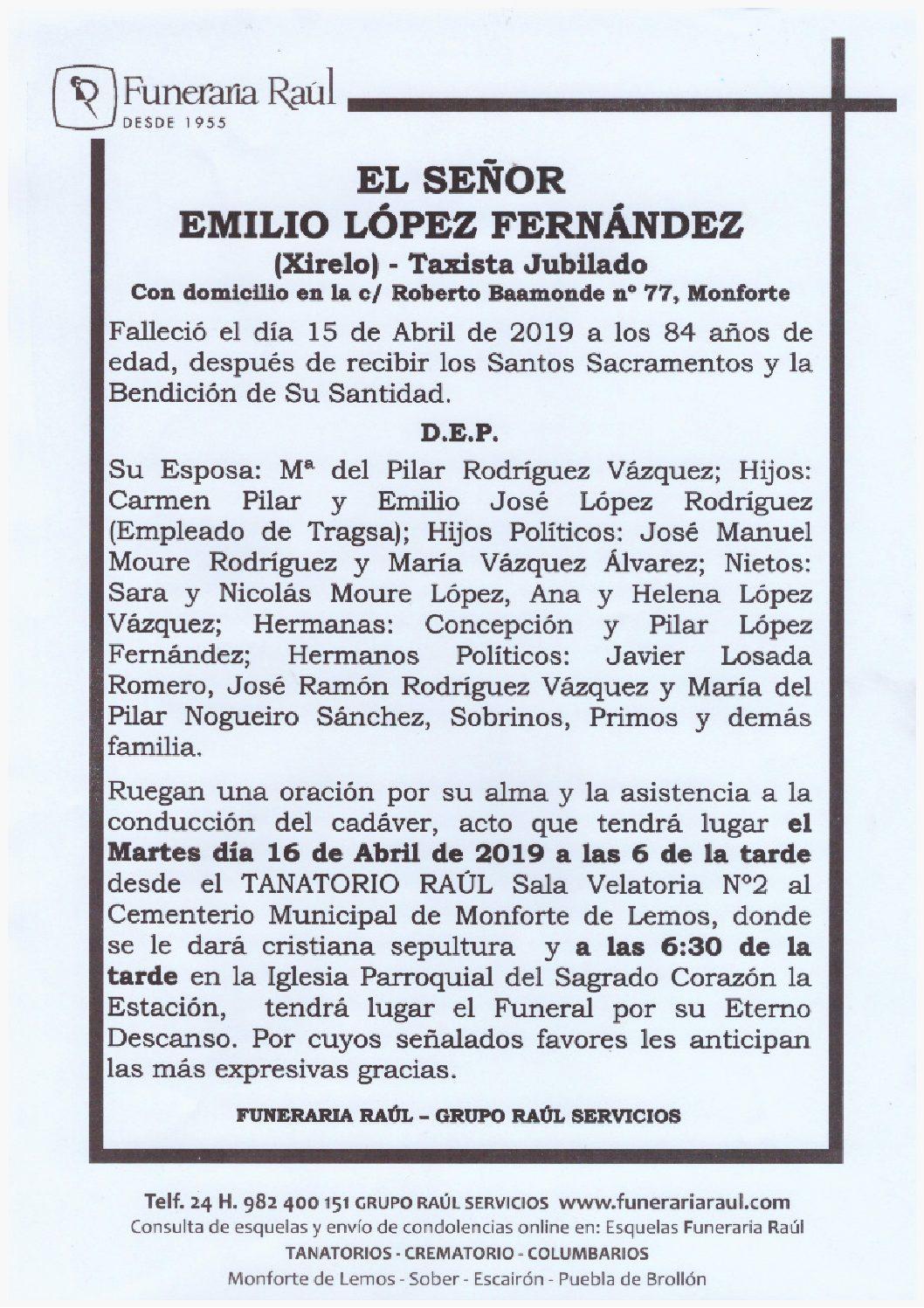 DON EMILIO LOPEZ FERNANDEZ
