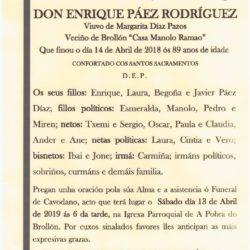 CAVODANO DE DON ENRIQUE PAEZ RODRIGUEZ