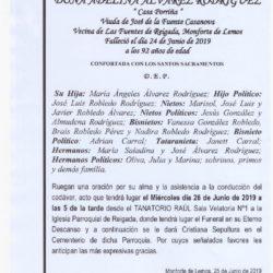 ADELINA ALVAREZ RODRIGUEZ