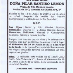 DOÑA PILAR SANTISO LEMOS