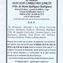 DON JOSE CARRICOBA GARCIA