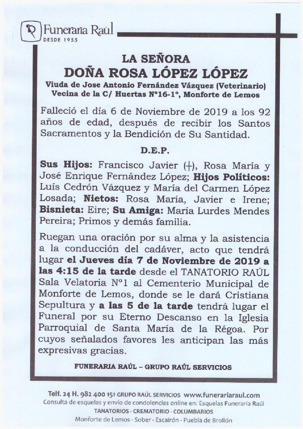 DOÑA ROSA LOPEZ LOPEZ