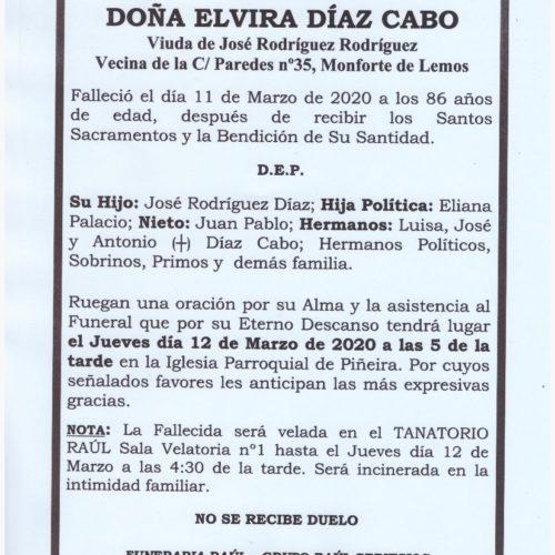 DOÑA ELVIRA DIAZ CABO