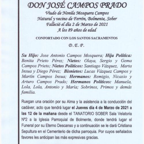 DON JOSE CAMPOS PRADO