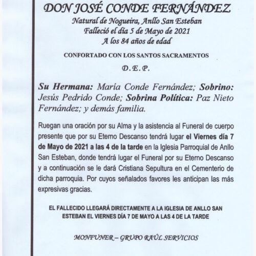 EL SEÑOR DON JOSE CONDE FERNANDEZ