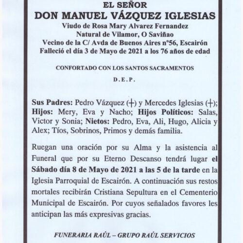 EL SEÑOR DON MANUEL VAZQUEZ IGLESIAS