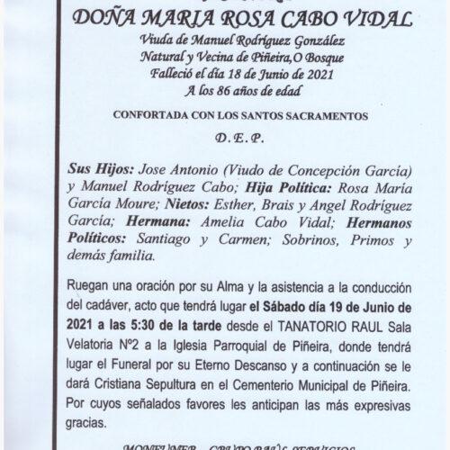 DOÑA MARIA ROSA CABO VIDAL