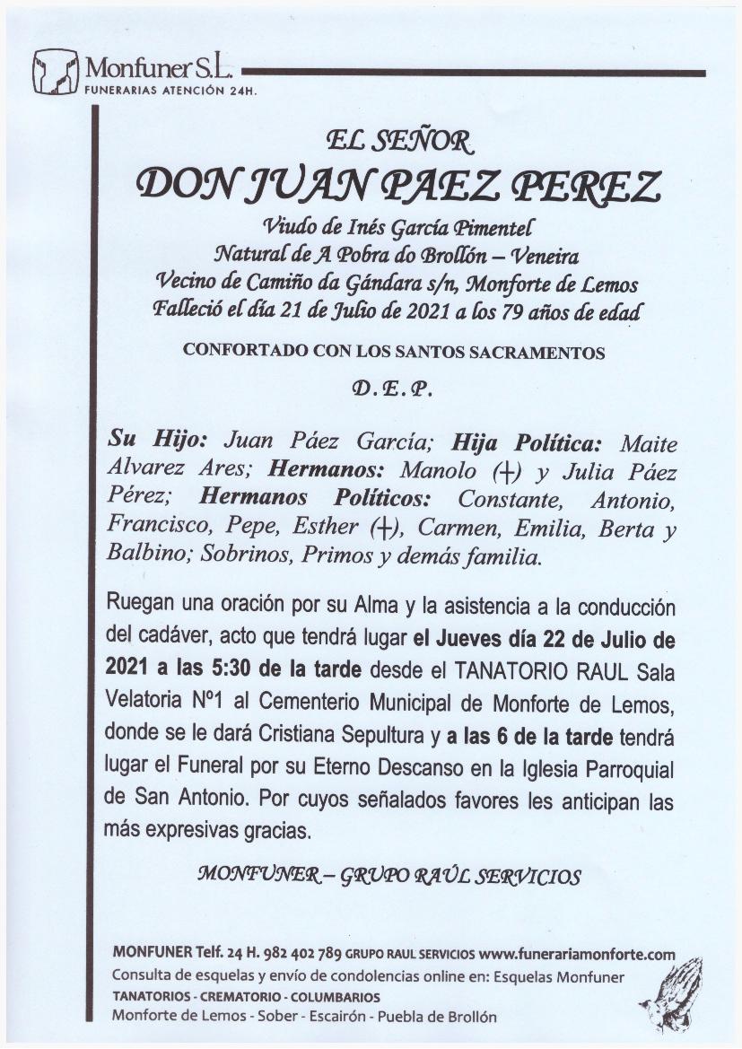 EL SEÑOR DON JUAN PAEZ PEREZ
